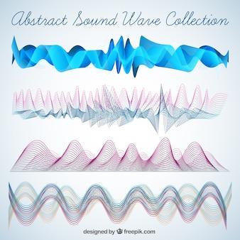 Packung mit abstrakten schallwellen