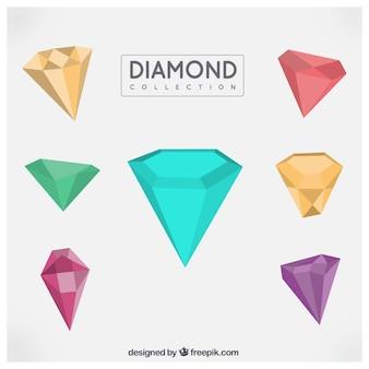 Packung mit bunten geometrischen diamanten