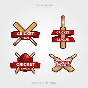 Packung mit cricket-etiketten