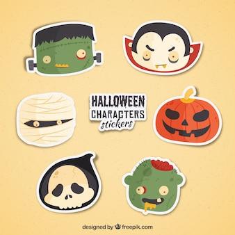 Packung mit dekorativen halloween-monster