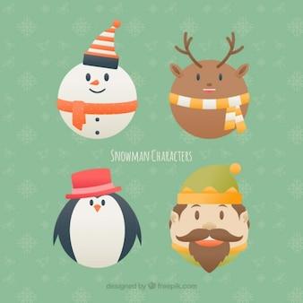 Packung mit elf und schöne weihnachten zeichen