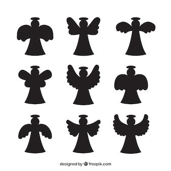 Packung mit engel silhouetten