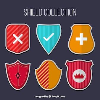 Packung mit escudos heraldische