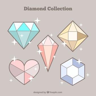 Packung mit fünf diamanten