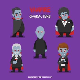Packung mit fünf vampirfiguren
