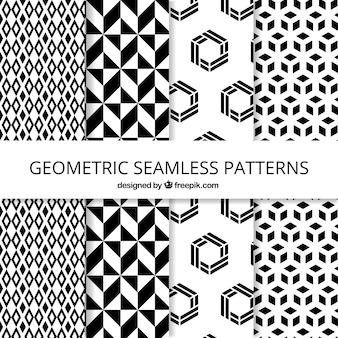 Packung mit geometrischen mustern in flacher bauform