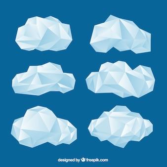 Packung mit geometrischen wolken