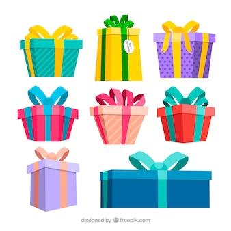 Packung mit geschenkboxen