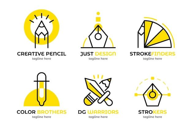 Packung mit grafikdesigner-logo-vorlagen