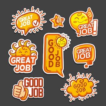 Packung mit guten jobs und tollen jobaufklebern
