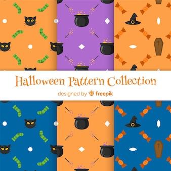 Packung mit halloween-mustern