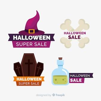 Packung mit halloween-verkaufsetiketten
