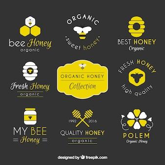 Packung mit honig abzeichen