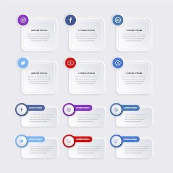 Packung mit infografik-elementen
