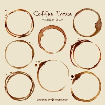 Packung mit kaffeeflecken