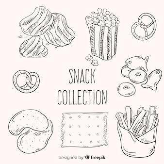 Packung mit leckeren snacks
