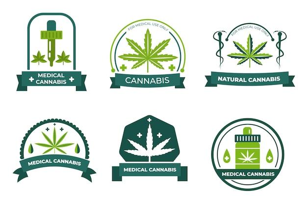 Packung mit medizinischen marihuana-abzeichen