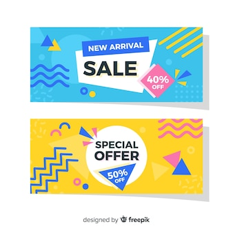 Packung mit memphis sales banner