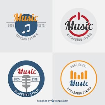 Packung mit musik logos