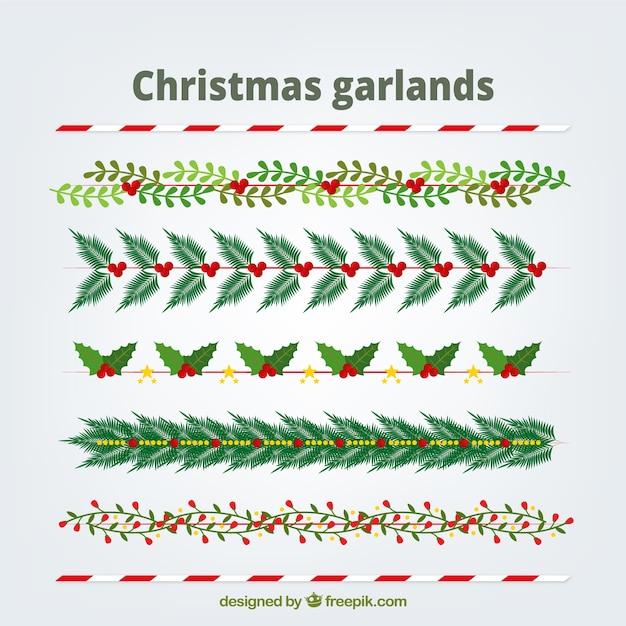 Packung mit natürlichen weihnachtskränze