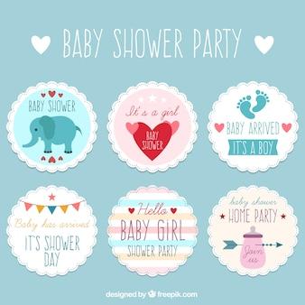 Packung mit netten dusche aufkleber baby