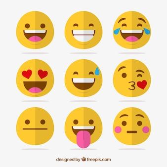 Packung mit neun lustige emoticons