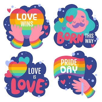 Packung mit pride day-etiketten
