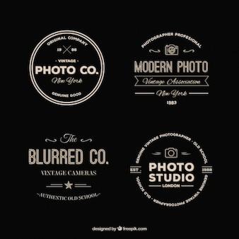 Packung mit retro-fotografie logos