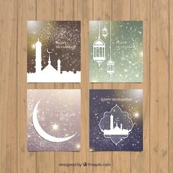 Packung mit schönen muharram grußkarten