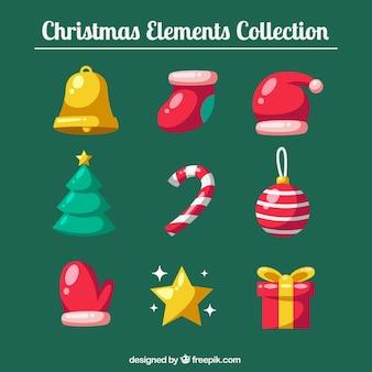 Packung mit schönen weihnachtsdekoration