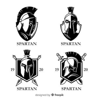 Packung mit spartanischen etiketten
