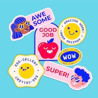 Packung mit tollen jobs und guten jobaufklebern