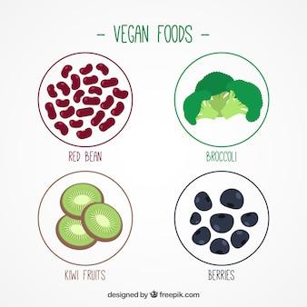 Packung mit veganen zutaten
