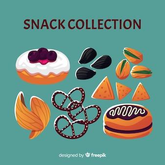 Packung mit verschiedenen arten von snacks