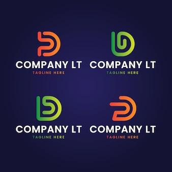 Packung mit verschiedenen farbverläufen d logo