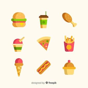 Packung mit verschiedenen snacks