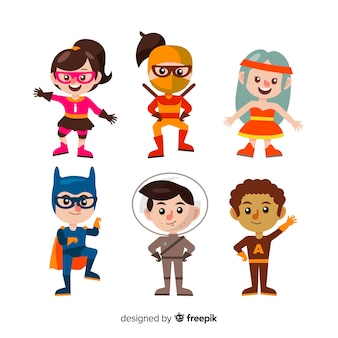 Packung mit verschiedenen superhelden-kinder