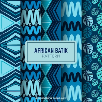 Packung mit vier afrikanischen batikmuster