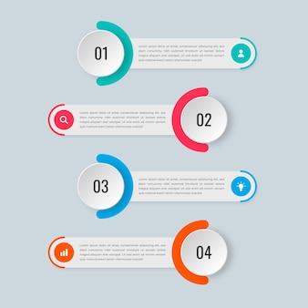 Packung mit vier infografiken banner