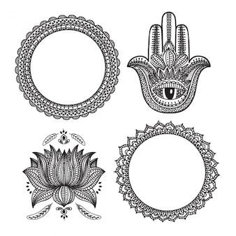 Packung mit vier ornamentik