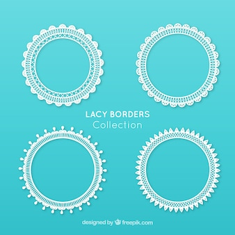 Packung mit vier vintage lace frames