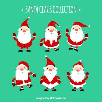 Packung mit weihnachtsmann-zeichen mit diferent bärte stile