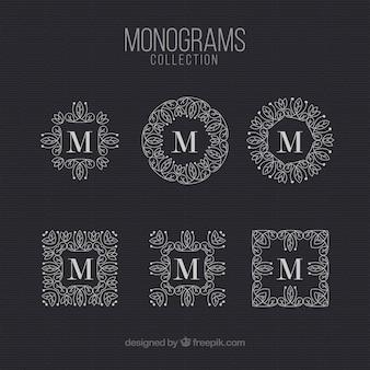 Packung monogramm vintage brief