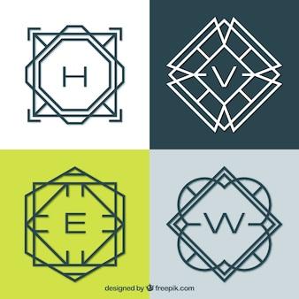 Packung monogramme mit linien