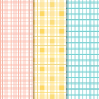 Packung pastell-gingham-muster