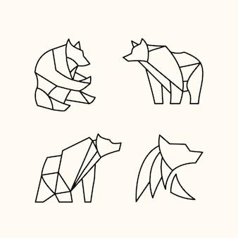 Packung polygonaler bär