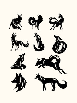 Packung shilouette-fuchs
