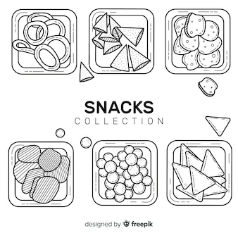 Packung snacks