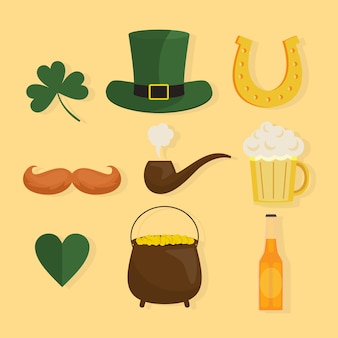 Packung st. patrick's day elemente