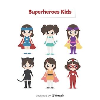 Packung superhelden-kinder